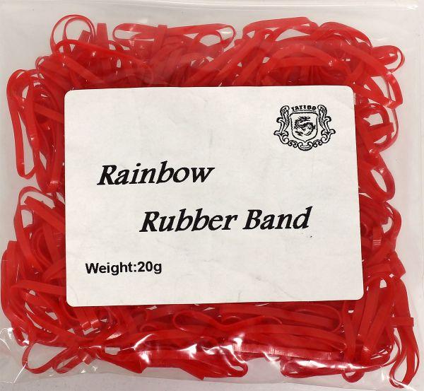 20g Maschinengummis in rot für Tattoomaschinen ca. 240 Stück Rainbow Rubber Band Gummiband