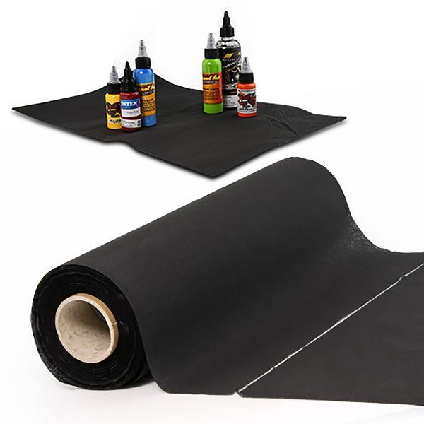 100 Blatt Arbeitsplatz Unterlagen in schwarz 50 x 30 cm Unigloves