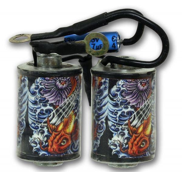 Maschinenspule FISCHE Tattoo Coil Spule für Tattoomaschinen 10 Wrap