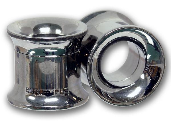 Double Flared Flesh Tunnel zum Schrauben 3,0 - 14,0 mm aus Chirurgenstahl Ohrschmuck Screw