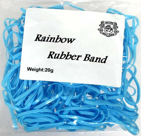 20g Maschinengummis in hellblau für Tattoomaschinen ca. 240 Stück Rainbow Rubber Band Gummiband