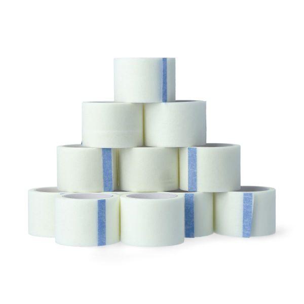 12 Rollen Vliesklebeband 2,5 cm x 5 m in weiß