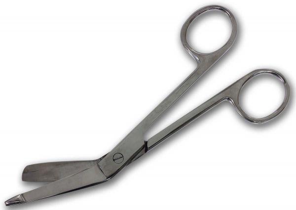 Medizinische Schere Bandagenschere aus rostfreiem Edelstahl - hochglanz poliert Verbandschere