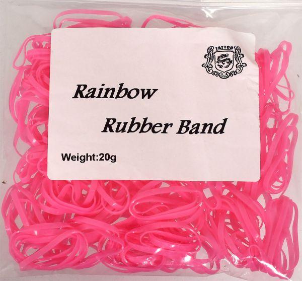 20g Maschinengummis in pink für Tattoomaschinen ca. 240 Stück Rainbow Rubber Band Gummiband