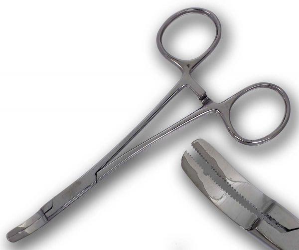 Micro Dermal Anchor Surface Zange Gebogen Piercingzange 0,8 mm Öffnung