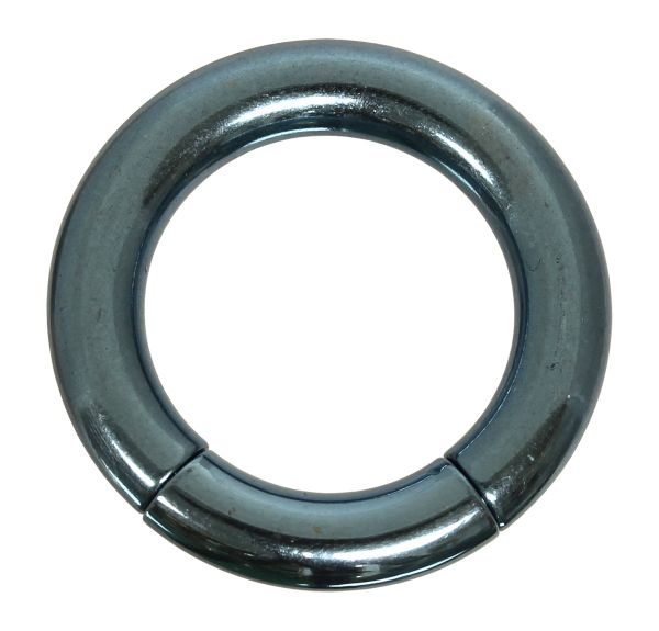 Segmentring - 4,0 mm aus G23 Titan in hellblau - Smooth Closure Ring