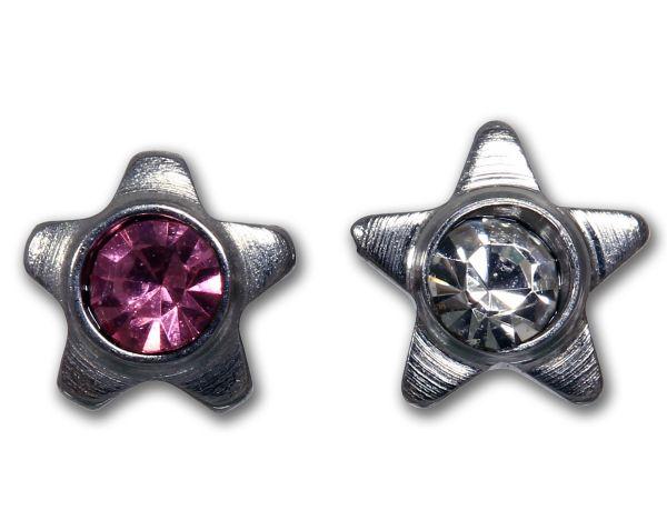 Stern aus Chirurgenstahl mit Kristall für Dermal Anchors 1,2 mm Gewinde Under Skin Piercing