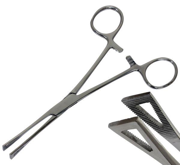 Pennington Forceps - kleine Piercingzange Dreieckszange geschlossen sterilisierbar