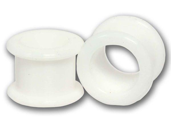 Flexi Flesh Tunnel 4 - 16 mm aus weißem Silikon Ohrschmuck Plug