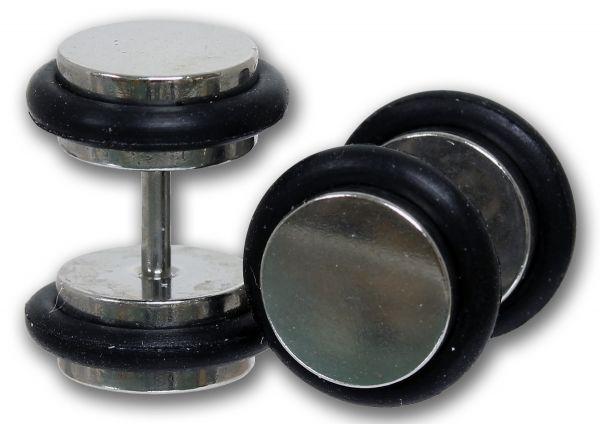 Fake Plug für´s Ohr aus Chirurgenstahl Cheater Plug