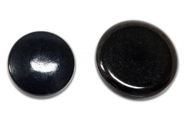 Disk/Scheibe aus schwarzem Chirurgenstahl für Dermal Anchors 1,2 mm Gewinde Under Skin Piercing