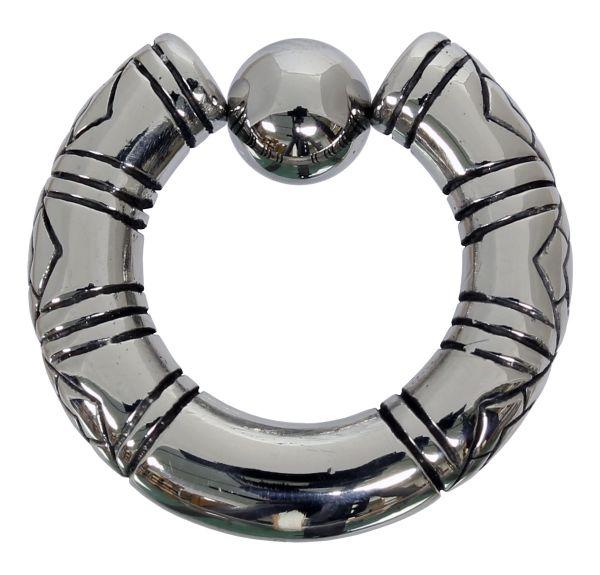 Klemmkugelring TRIBAL BCR 5,0 mm aus Chirurgenstahl Ball Closure Ring Piercingring Intimpiercing