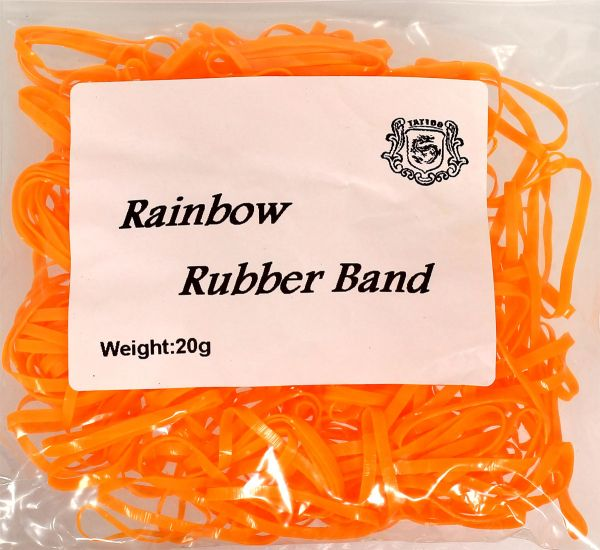 20g Maschinengummis in orange für Tattoomaschinen ca. 240 Stück Rainbow Rubber Band Gummiband
