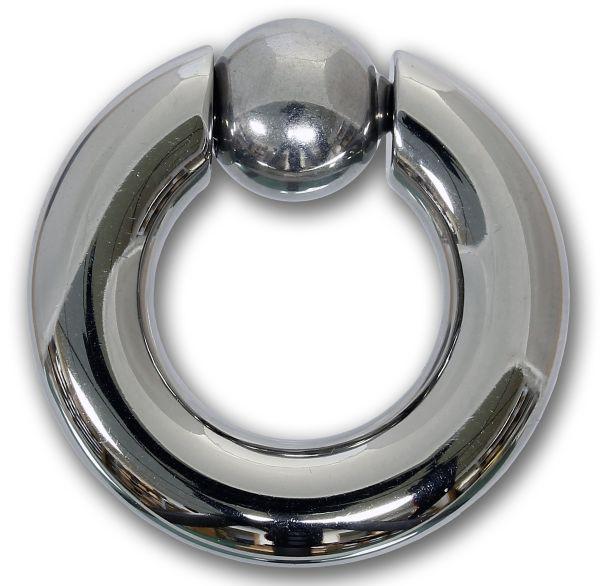 Federkugelring 7,0 mm aus Chirurgenstahl BCR Piercingring Intimpiercing