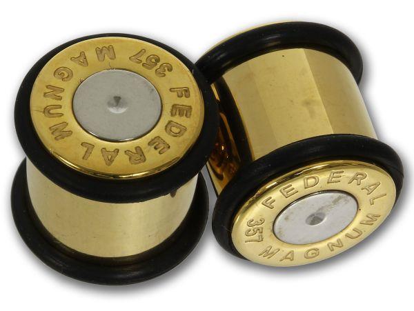 Flesh Plug BULLET GOLD 6 - 16 mm Chirurgenstahl mit 2 O-Ringen
