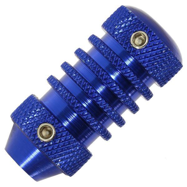 Aluminium Tattoo Grip 22 mm VERSION 1 Blau mit Hülse Griffstück