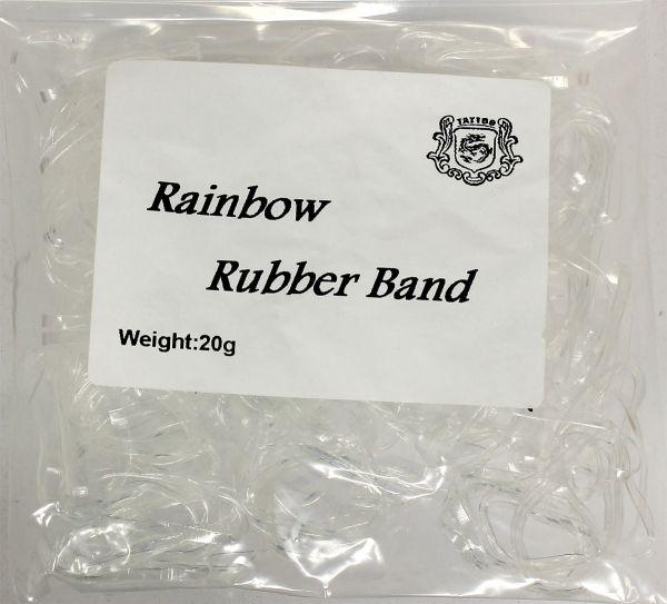 20g Maschinengummis in klar für Tattoomaschinen ca. 240 Stück Rainbow Rubber Band Gummiband