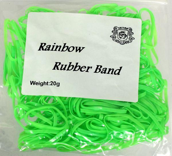20g Maschinengummis in grün für Tattoomaschinen ca. 240 Stück Rainbow Rubber Band Gummiband