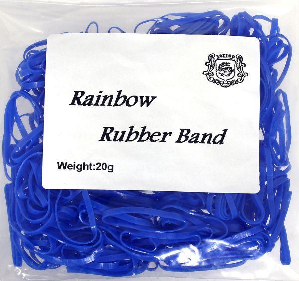 20g Maschinengummis in blau für Tattoomaschinen ca. 240 Stück Rainbow Rubber Band Gummiband