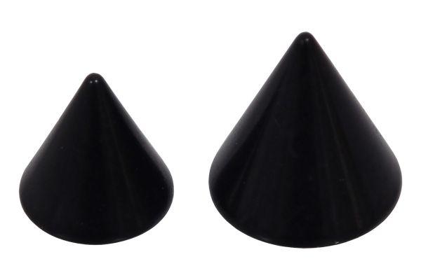 Piercing Spitze Tränenform 1.6 mm Schwarz Einzelteil Ersatz