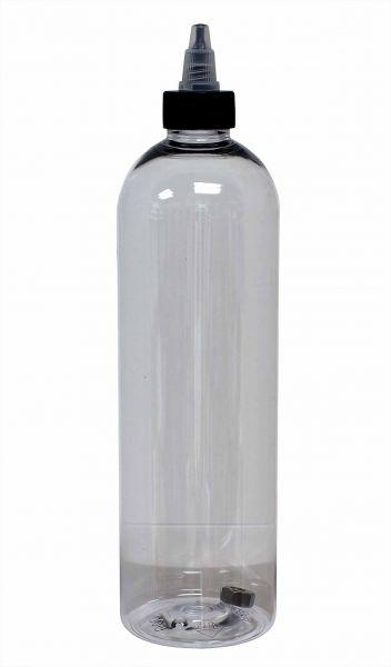 Leerflasche 500 ml mit Twist-Off Deckel und Schüttelstein Leerflasche Tattooflasche Tattoobedarf
