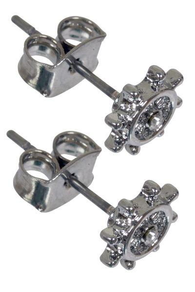 1 Paar Ohrstecker STEURRAD in silber aus Chirurgenstahl - Ohrringe für normale Ohrlöcher