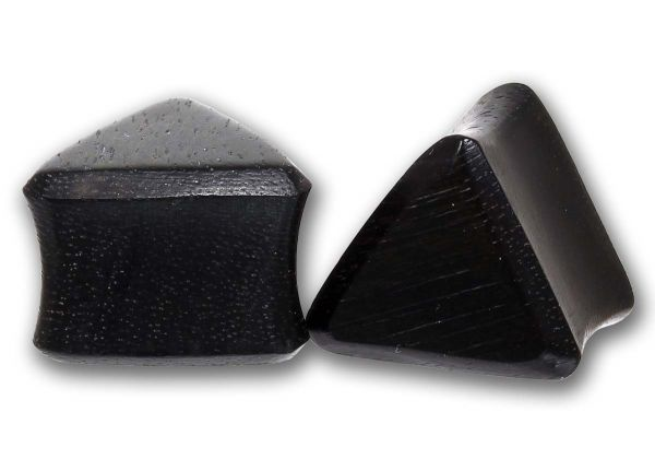 Double Flared Triangel Plug Black Areng Wood 6,0 - 24 mm Ohrschmuck Flesh Tunnel