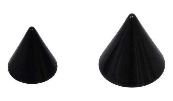 Spitze für 1,2 mm Gewinde aus schwarzem Chirurgenstahl Ersatzspitze Piercingspitze