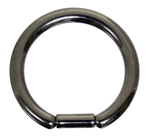 Bar Closure Ring - 1,2 / 1,6 mm aus stahlfarbenem Titan - Segmentring Piercingring