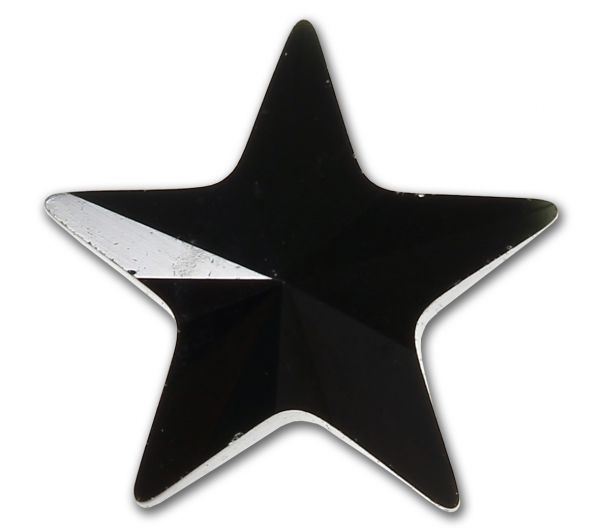 Black Star aus Chirurgenstahl für Dermal Anchors 1,2 mm Gewinde Under Skin Piercing