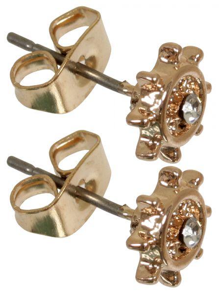 1 Paar Ohrstecker STEURRAD in rosegold aus Chirurgenstahl - Ohrringe für normale Ohrlöcher