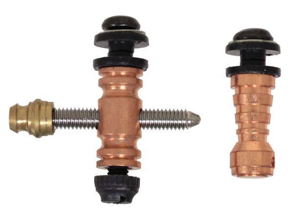 Binding Post Set Kupfer M4 mit Kontaktschraube Abstandsbolzen Tattoobedarf