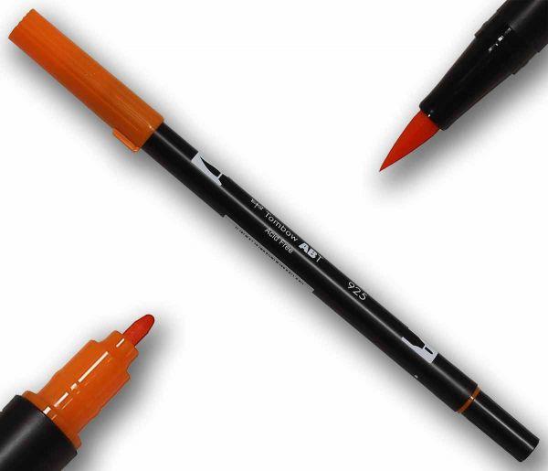 Tombow ABT SCARLET Double Brush Pen Künstlerstift Fasermaler mit zwei Spitzen