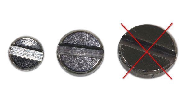 Schlitzschraube aus Chirurgenstahl für Dermal Anchors 1,2 mm Gewinde Under Skin Piercing