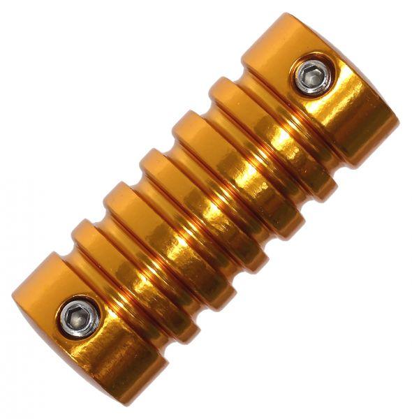 Aluminium Tattoo Grip 22 mm VERSION 2 Orange mit Hülse Griffstück