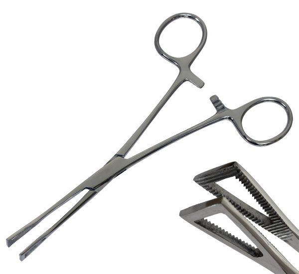 Pennington Forceps - große Piercingzange Dreieckszange geschlossen sterilisierbar